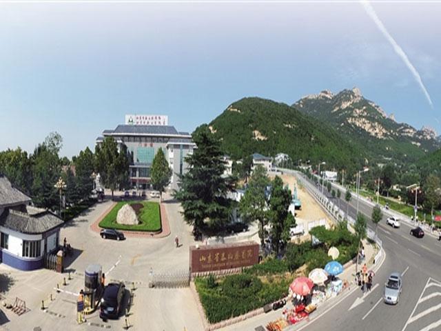 风景区内,东傍龙潭碧水,西倚傲徕奇峰,毗邻泰山门户—天圆地方广场