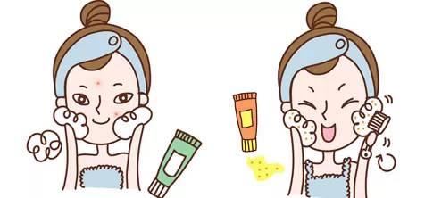 护肤的卡通人物素材